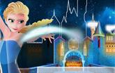 Elsa Builds the Frozen Castle