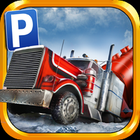3D Ice Road Trucker Parking Simulator Game